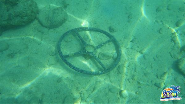 Million Dollar Point Underwater WWII Steering Wheel